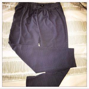 H&M Blue w/White Print Loose Fit Pants